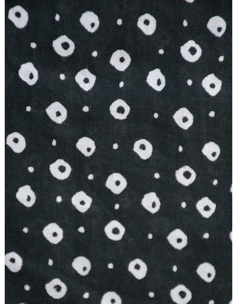 Mata Traders Black Dotted Maxi Dress