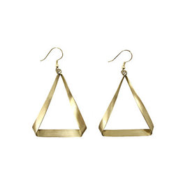Flowering Desert Project Folded Triangle Earrings
