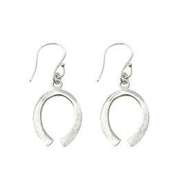 Just Trade Lucky Horseshoe Silver Earrings