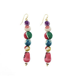 Flowering Desert Project Kantha Waterfall Earrings