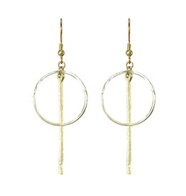 Flowering Desert Project Bar Hoop Earrings