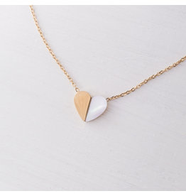 Starfish Project Gold Hope Heart Necklace
