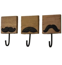 Mira Fair Trade Mustache Hooks