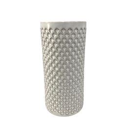 Association of Craft Producers Textured White Ceramic Cylinder Vase