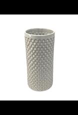 Association of Craft Producers Textured White Ceramic Cylinder Vase