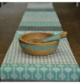 Balinese Endek Turquoise Table Runner