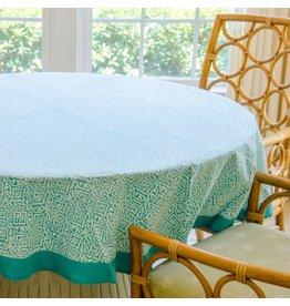 Living Imprints Aqua Round Tablecloth