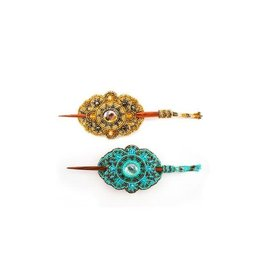 Lucia's Imports Beaded Barrette