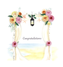 Quilling Card Wedding Chuppah Card
