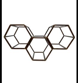 Noah's Ark Hexagon Triple Wine Rack