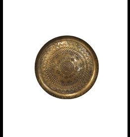 Noah's Ark Tray Round Embossed Bronze Colour