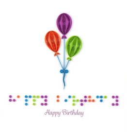 Quilling Card Birthday Braille Card