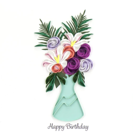 Quilling Card Birthday Flowers Card