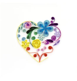 Quilling Card Rainbow Heart Card