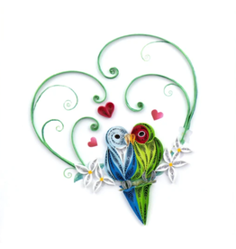 Quilling Card Lovebirds Greeting Card