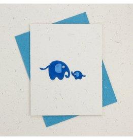 Mr. Ellie Pooh Baby Elephant Card