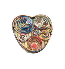 Mai Vietnamese Handicrafts Recycled Heart Box