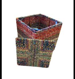 Dhaka Handicrafts Sitting Pretty Sari Stool