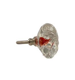 Sasha Association for Crafts Producers Red Glass Pull Knob
