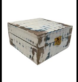 Noah's Ark Distressed Mango Wood Box