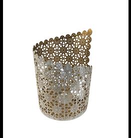 Sasha Association for Crafts Producers Asymmetrical Jali Cut Candleholder (Large)