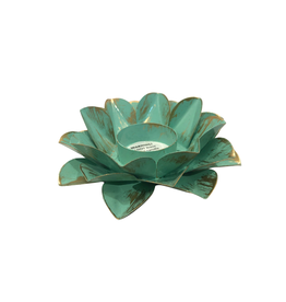Sasha Association for Crafts Producers Turquoise Lotus Tealight Holder