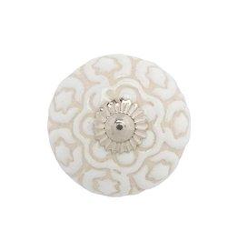 Mela Artisans Ivory Lace Ceramic Pull Knob
