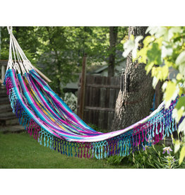 Minga Imports Fringed Cotton Hammock