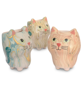 Lucuma Designs Swirly Cat Planter