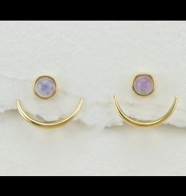dZi Inc. Stone Crescent Earrings