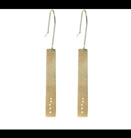 Just Trade Brass Cinco Earrings