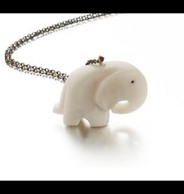 Just Trade Tagua Elephant Pendant