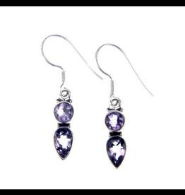 Mela Artisans Midnight Droplet Earrings