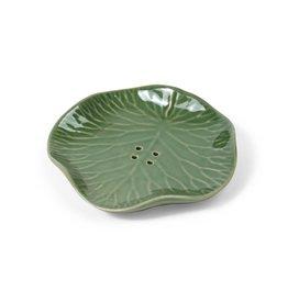 Mitra Bali Green Lily Pad Soap Dish