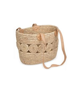 Leather Handle Tote Basket