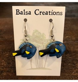 Women of the Cloud Forest Blue Tang Fish Earrings