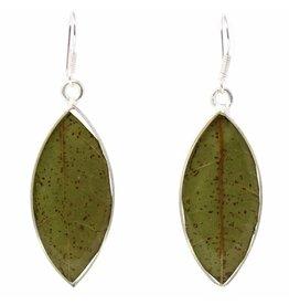 Artisana Leafy Green Earrings