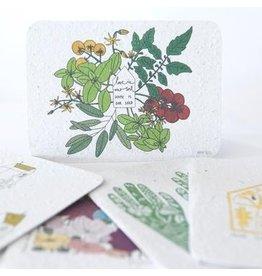 Koru Street Planting Seed Greeting Card