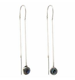 Artisana Abalone Threader Earrings