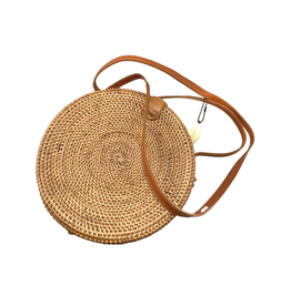 The Winding Road Rattan Round Purse