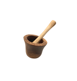 Swahili Modern Olivewood Mortar and Pestle