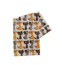 Craft Resource Center Cats and Dogs Tea Towel