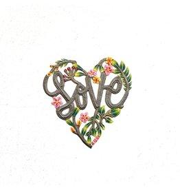 Papillon Happy Love Heart Wall Hanging