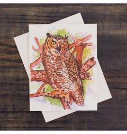 Mr. Ellie Pooh Great Owl Greeting Card