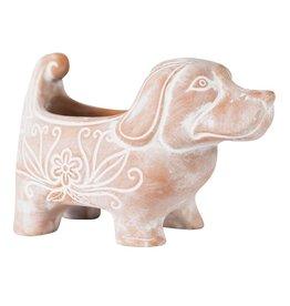 Corr the Jute Works Terracotta Dog Planter