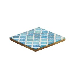 Mela Artisans Blue Checkered Coaster (Set of 4)