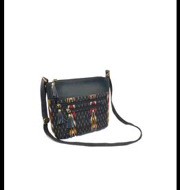Craft Resource Center Ikat design leather purse