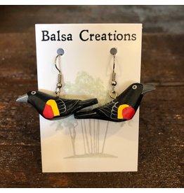 Women of the Cloud Forest Red Winged Blackbird Earrings