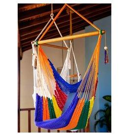 Women of the Cloud Forest Rainbow Hammock Chair