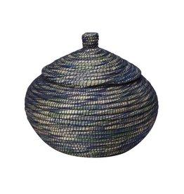 Dhaka Handicrafts Blue Bogra Basket
